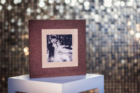 свадебная фотокнига с фотовставкой