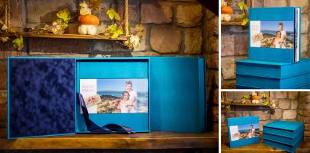 свадебная фотокнига с обложкой из кожезаменителя с фотовставкой на акриле с подарочной упаковкой